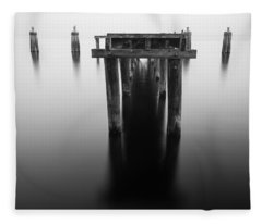 Dock At Twilight Fleece Blanket