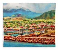 Docked In St. Kitts Fleece Blanket
