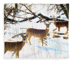 Does In The Snow Fleece Blanket