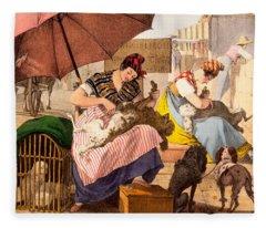 Dog Groomers, 1820 Fleece Blanket