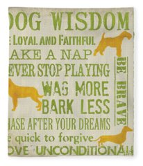 Dog Wisdom Fleece Blanket