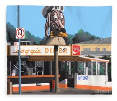 Doggie Diner 1986 Fleece Blanket