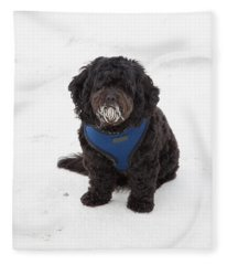 Doggone Good Beach Fun Fleece Blanket