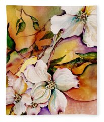 Dogwood In Spring Colors Fleece Blanket