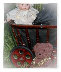 Doll And Teddy Fleece Blanket