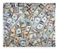 Dollar Background Fleece Blanket