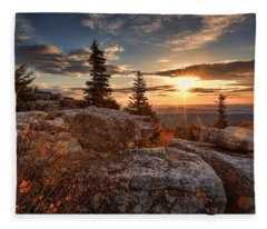Dolly Sods Morning Fleece Blanket