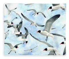 Don't Feed The Seagulls Fleece Blanket