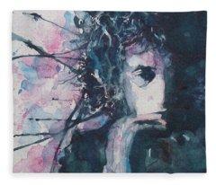 Ink Paintings Fleece Blankets