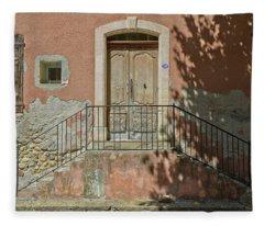 Door And Shadow Fleece Blanket
