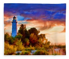 Door County Cana Island Wisp Fleece Blanket