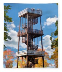 Door County Eagle Tower Peninsula State Park Fleece Blanket