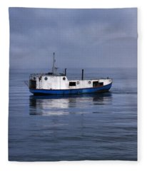 Door County Gills Rock Trawler Fleece Blanket