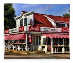 Door County Wilson's Ice Cream Store Fleece Blanket