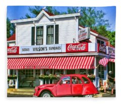 Door County Wilson's Restaurant And Ice Cream Parlor Fleece Blanket