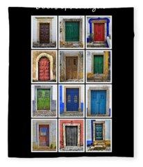 Doors Of Portugal Fleece Blanket