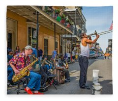 Doreen's Jazz New Orleans Fleece Blanket