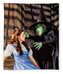 Dorothy And The Wicked Witch Fleece Blanket