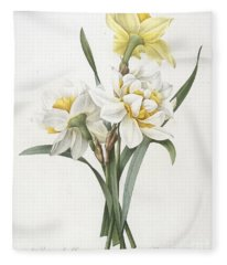 Double Daffodil Fleece Blanket