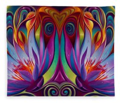 Double Floral Fantasy Fleece Blanket