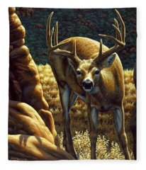 Whitetail Buck - Double Take Fleece Blanket