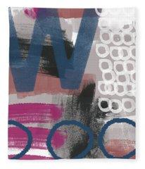 Double Ve- Abstract Painting Fleece Blanket