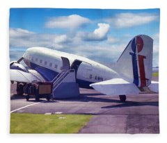 Douglas Dakota Dc3 Fleece Blanket