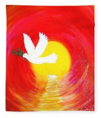 Dove Of Peace Fleece Blanket