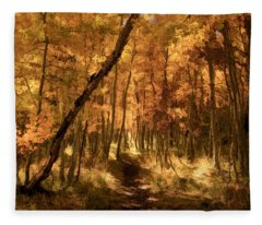 Down The Golden Path Fleece Blanket
