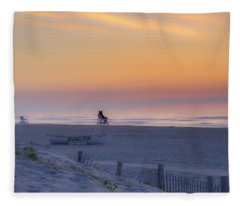 Down The Shore - Avalon New Jersey Fleece Blanket
