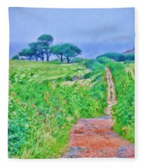 Down To The Sea Herm Island Fleece Blanket