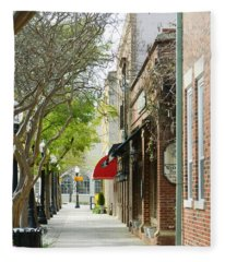 Downtown Aiken South Carolina Fleece Blanket
