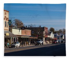 Downtown Boerne Fleece Blanket