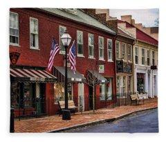 Downtown Jonesborough Tn Fleece Blanket