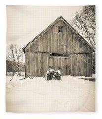 Downtown Metropolitian Etna New Hampshire Fleece Blanket