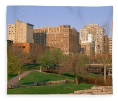 Downtown Omaha Ne Fleece Blanket