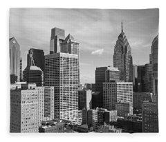 Downtown Philadelphia Fleece Blanket