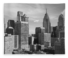 Downtown Philadelphia Fleece Blanket