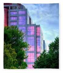 Downtown Reflections 17341 Fleece Blanket