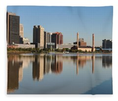 Downtown Toledo Skyline 0822 Fleece Blanket