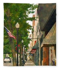 Downtown Usa Fleece Blanket