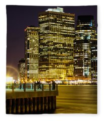 Downtown Lights Fleece Blanket