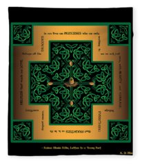 Dragon Egg Celtic Cross Fleece Blanket