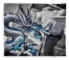 Dragon Fountain Fleece Blanket