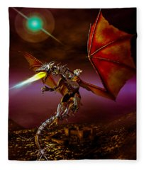 Dragon Rider Fleece Blanket