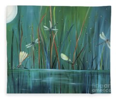 Dragonfly Diner Fleece Blanket