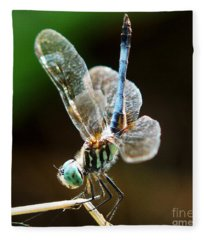 Dragonfly Headstand Fleece Blanket
