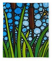 Dragonfly Pond By Sharon Cummings Fleece Blanket