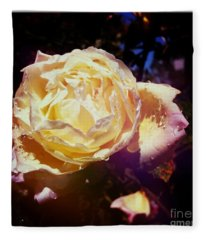 Dramatic Rose Fleece Blanket