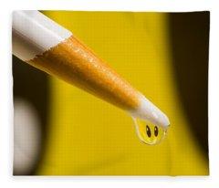 Happy Water Drop Pencil Fleece Blanket